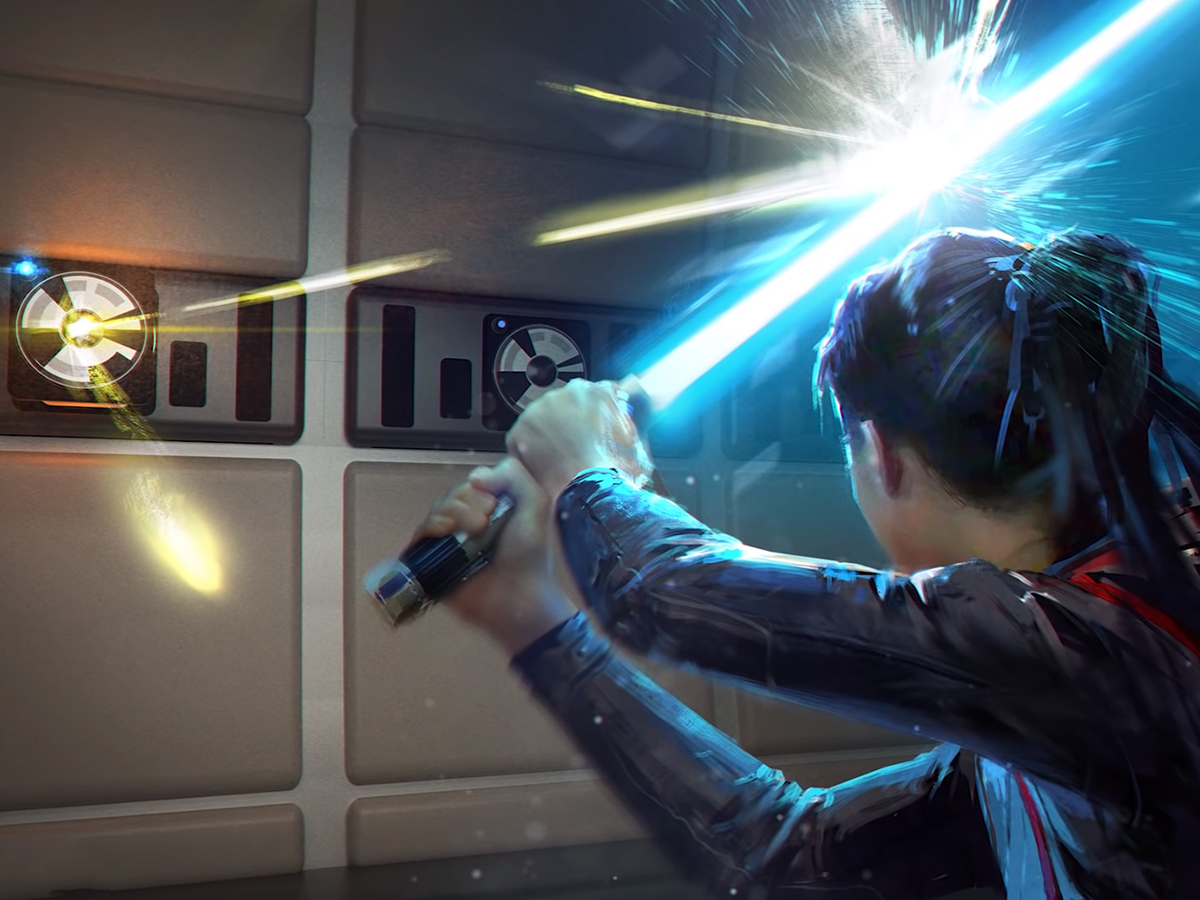 Play the lightsaber game