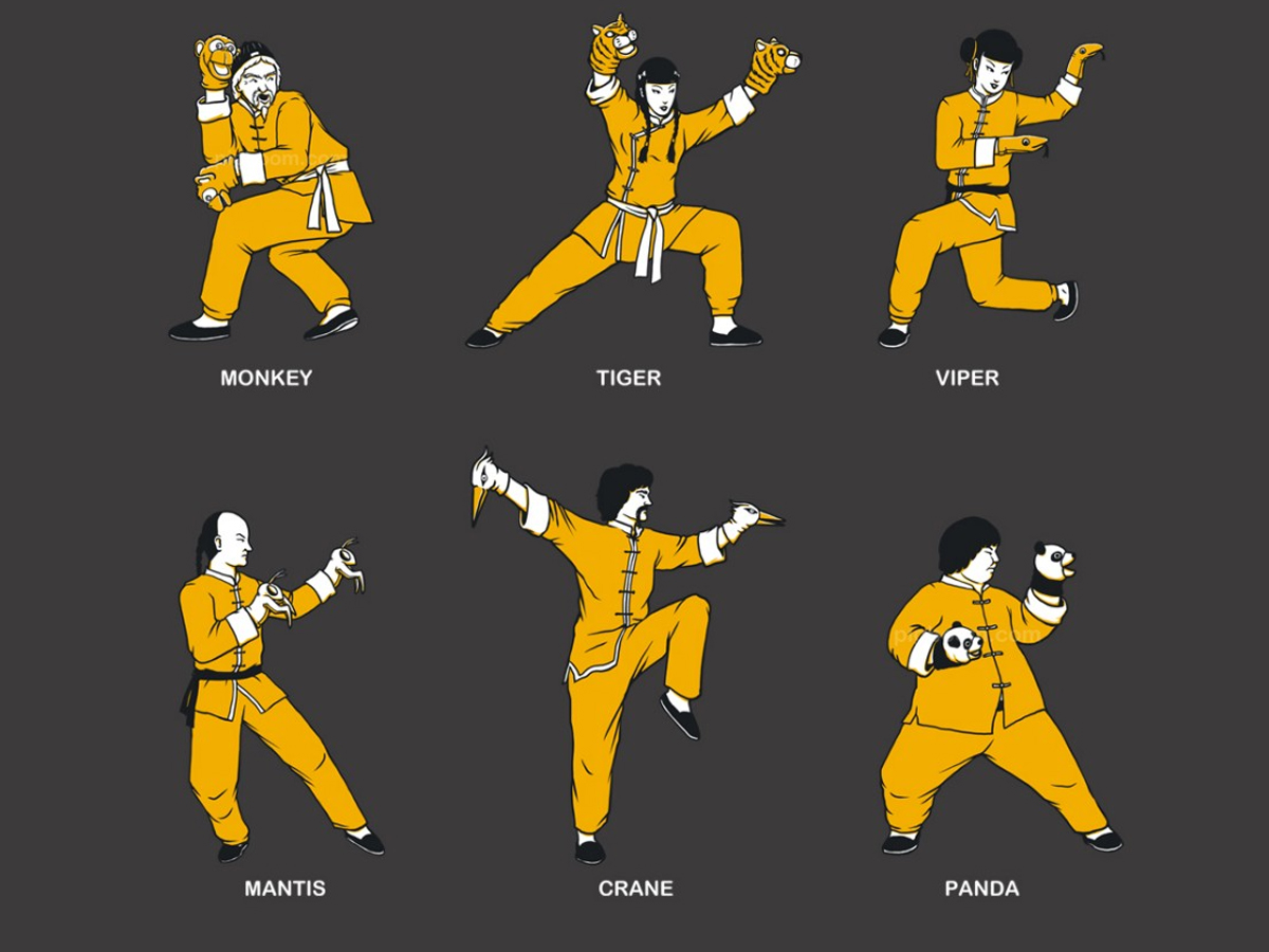 all the animal style kung fu
